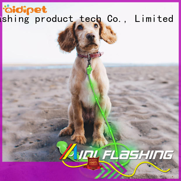 AIDI led dog leash design for walking