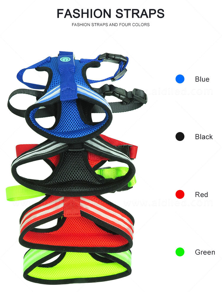 nylon illuminated dog harness directly sale for outdoors-3