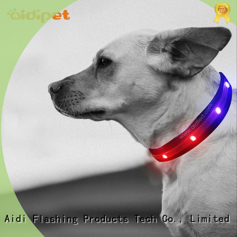 AIDI silicone best light up dog collar inquire now for park