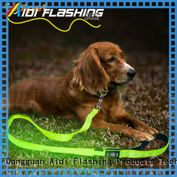 AIDI light up dog leash factory for walking