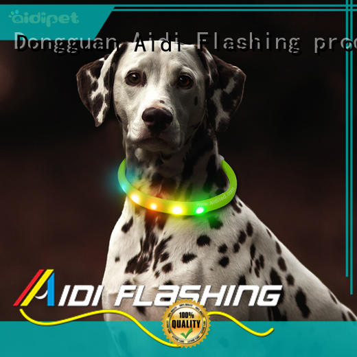 AIDI printing light up dog collar rechargeable with good price for walking