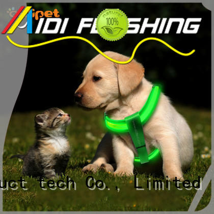 AIDI glowing dog harness customized for outdoors