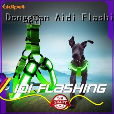 AIDI colorful led dog harness manufacturer for outdoors