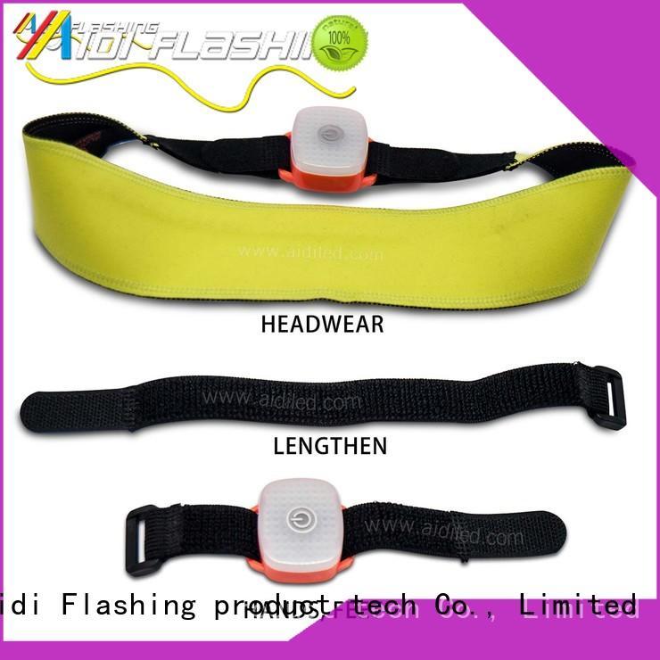 AIDI led sweatband supplier for woman