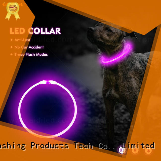 AIDI remote night time dog collars design for walking