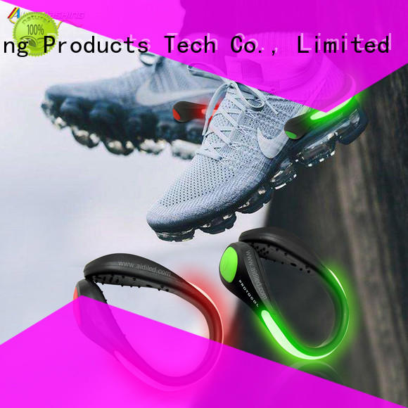 rechargeable running shoe light clips design for outdoors