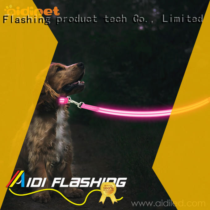 AIDI dog leash with flashlight factory for pet