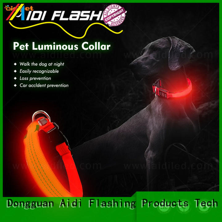 rechargeable rechargeable flashing dog collars with good price for outdoors