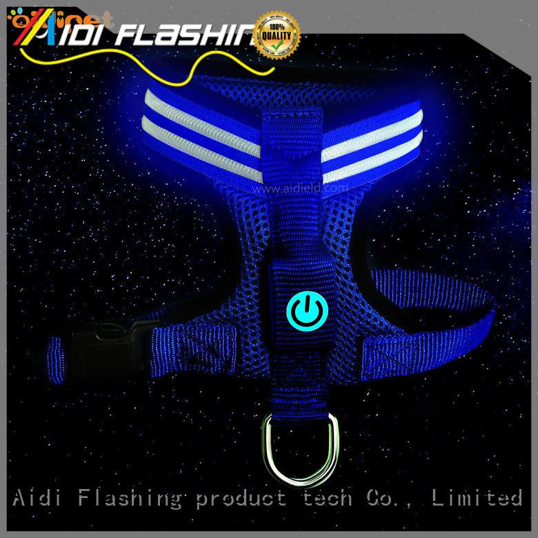 soft flashing light dog harness manufacturer for pet