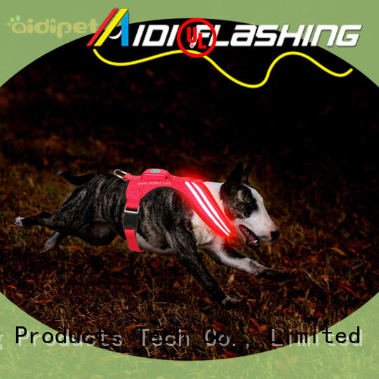 AIDI fishing net lighted dog harness directly sale for park