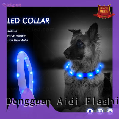 AIDI night time dog collars design for pet