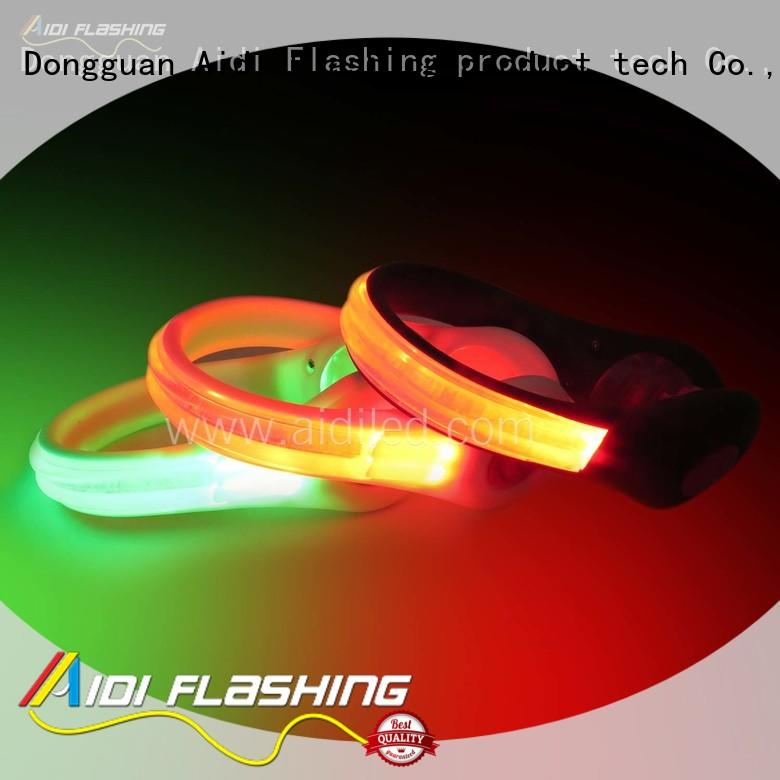 AIDI rechargeable night runner led shoe clip light for outdoors