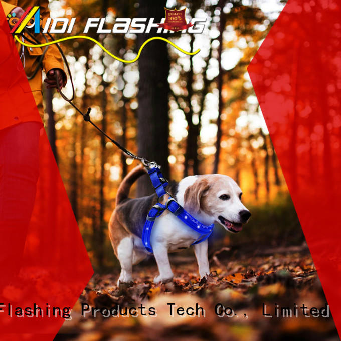 AIDI nylon glow in the dark dog harness customized for outdoors