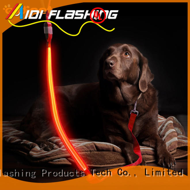 AIDI illuminated glow in the dark dog leash with good price for pet