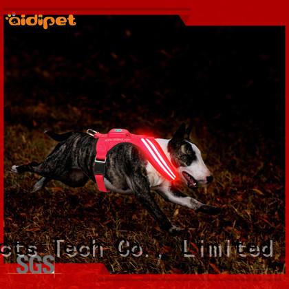 nylon illuminated dog harness directly sale for outdoors