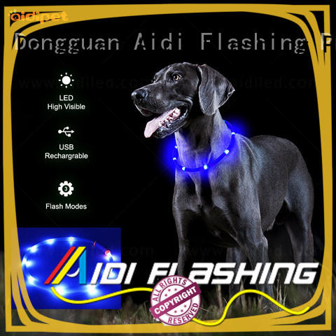 nylon led dog collar factory for park