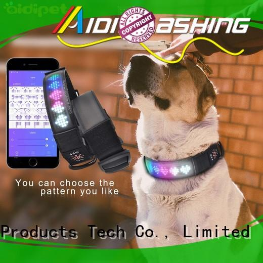 AIDI glow in the dark dog collar with good price for outdoors