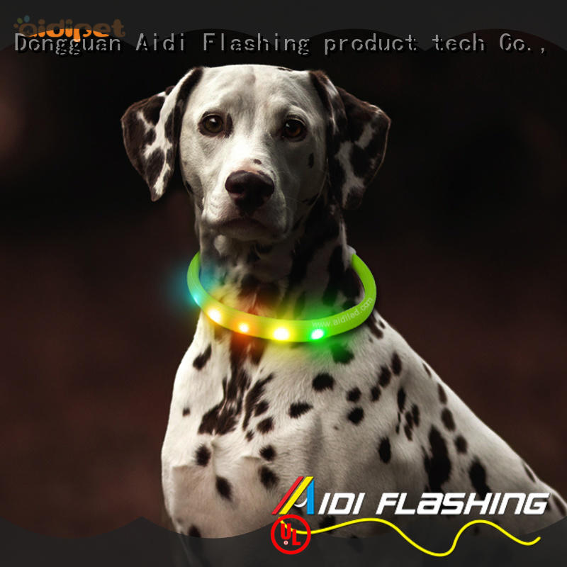 usb rechargeable led dog collar design for pet AIDI