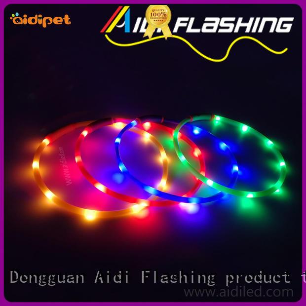 super waterproof glow in the dark dog collar buckles for walking AIDI