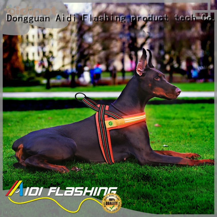 AIDI glow in the dark dog harness manufacturer for street