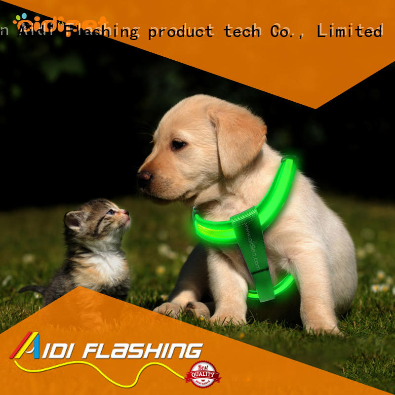 AIDI double glowing dog harness directly sale for outdoors