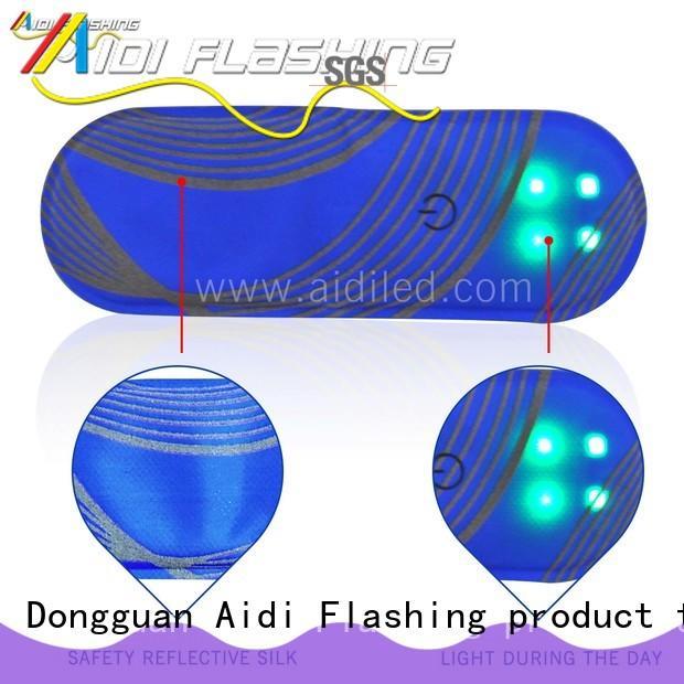 air permeable led slap bracelet design for adults