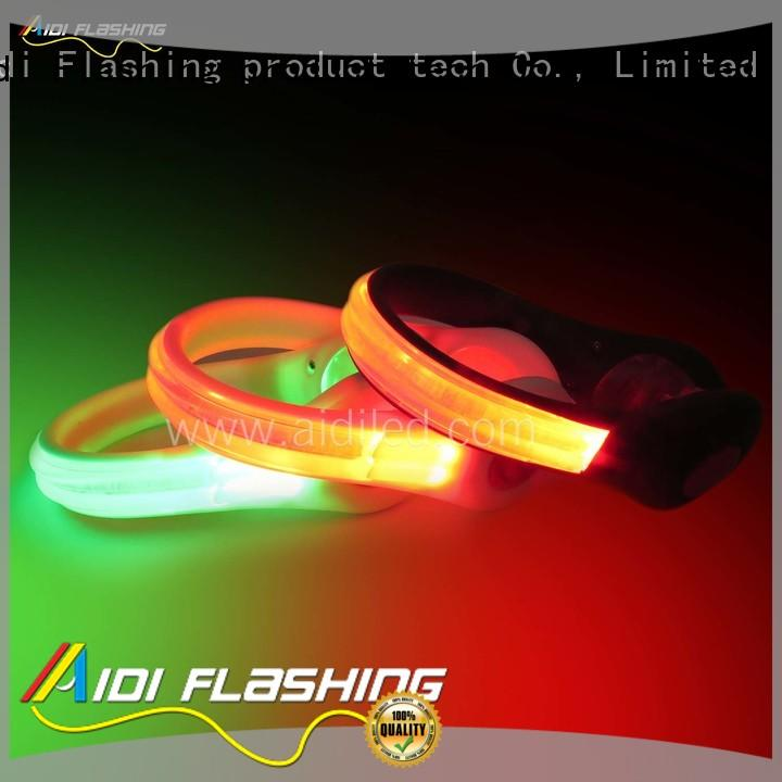 rechargeable led safety light shoe clip night AIDI