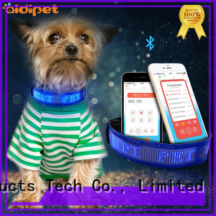 AIDI remote night dog collar design for pet