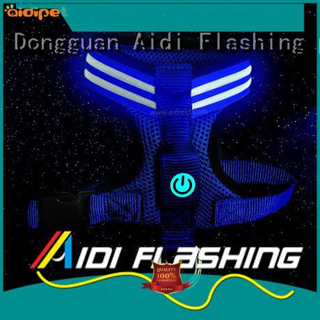 AIDI flashing led dog harness