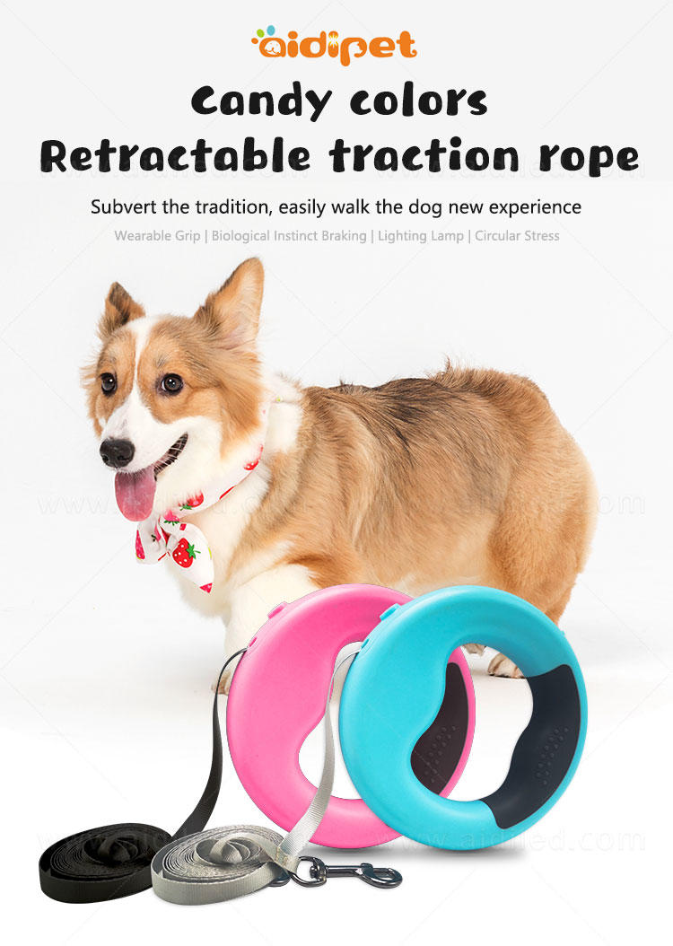 AIDI rechargeable lighted dog leash design for pet-1