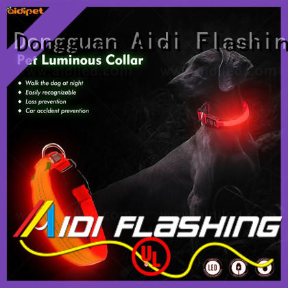 AIDI flashing light up dog collar inquire now for outdoors