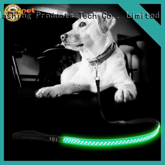 rechargeable light up dog leash inquire now for pet