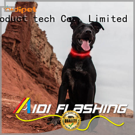 AIDI printing dog collars for dark nights design for outdoors