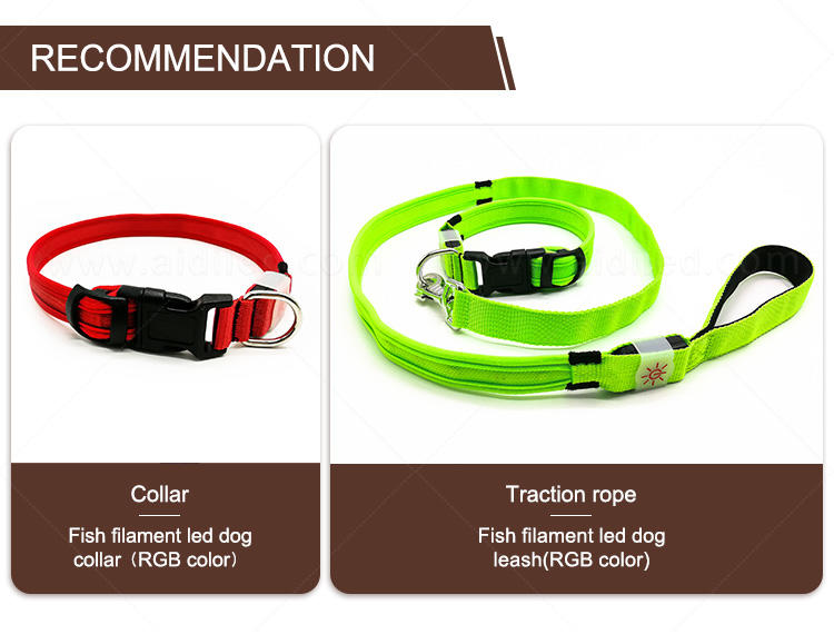 AIDI nylon glow in the dark dog harness customized for outdoors-1