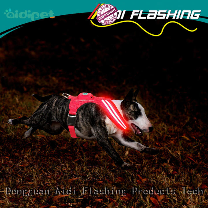 AIDI double glowing dog collar from China for outdoors
