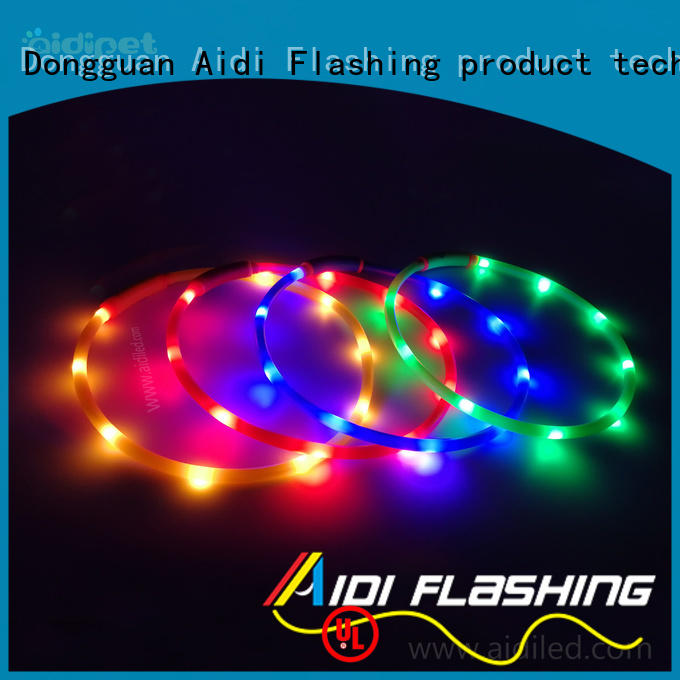 AIDI printing lighted dog collars inquire now for walking