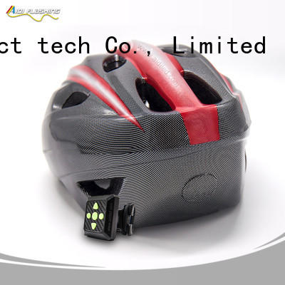 red bike helmet with led lights with good price for man AIDI
