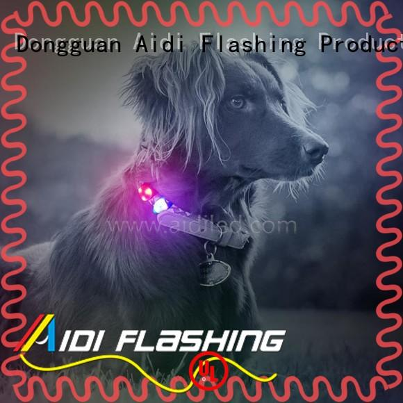 AIDI silicone dog collars and accessories personalized for park