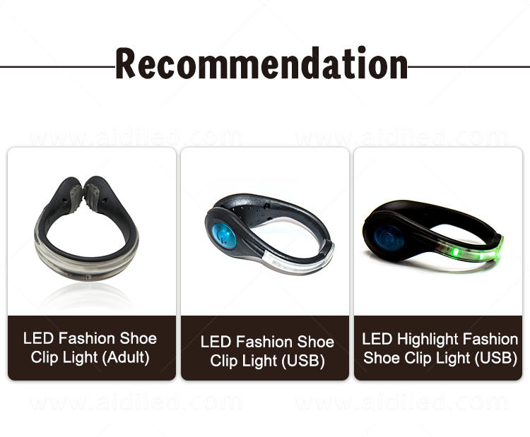 AIDI night runner led shoe clip factory for children-3