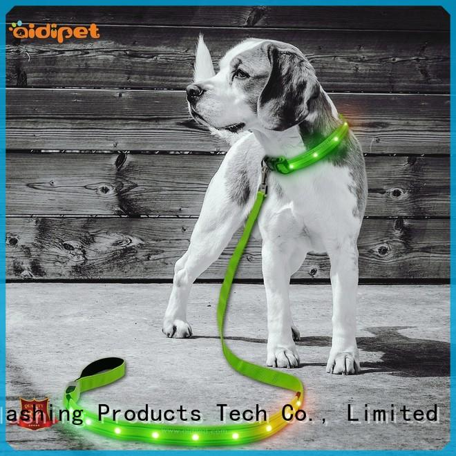 AIDI flat light up dog leash inquire now for park