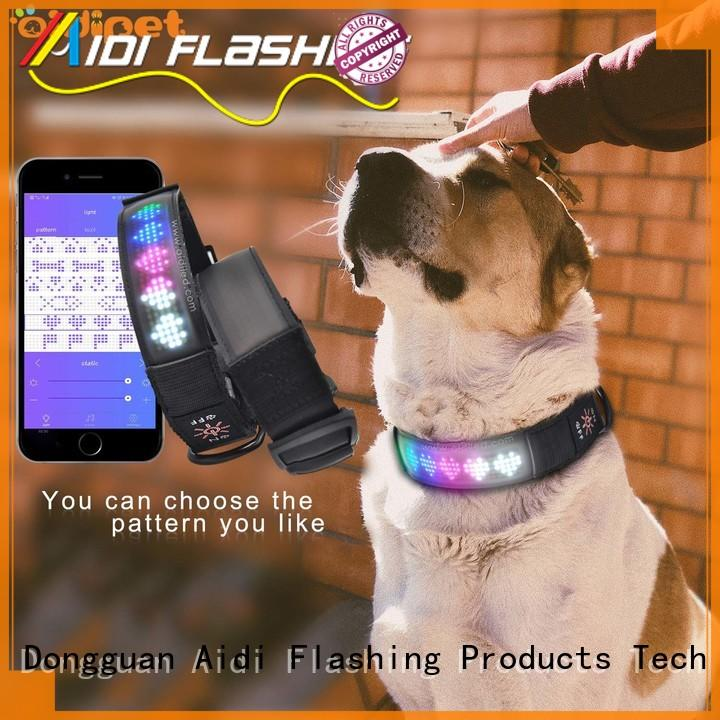 waterproof night time dog collars with good price for pet