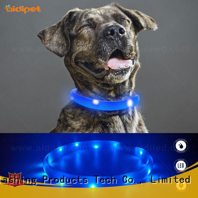 AIDI rechargeable flashing dog collars inquire now for outdoors