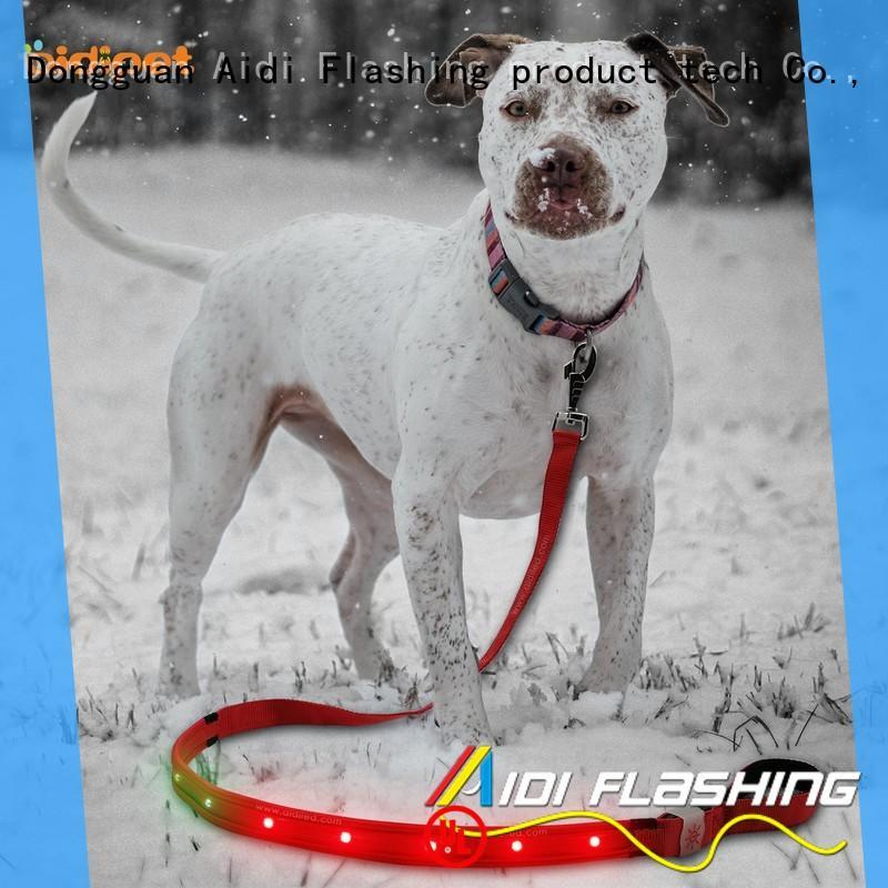 AIDI flat led dog leash fashlight for pet