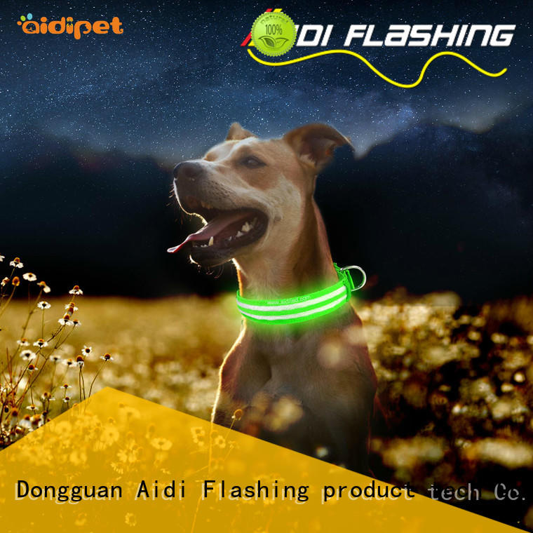 waterproof lighted dog collars factory for outdoors AIDI
