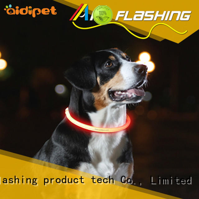 rechargeable light up dog collar pets at home factory for park AIDI