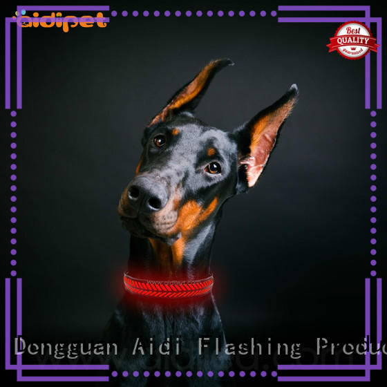 AIDI night time dog collars design for outdoors