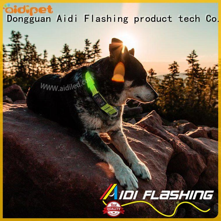 illusion flashing dog collar light waterproof for walking AIDI