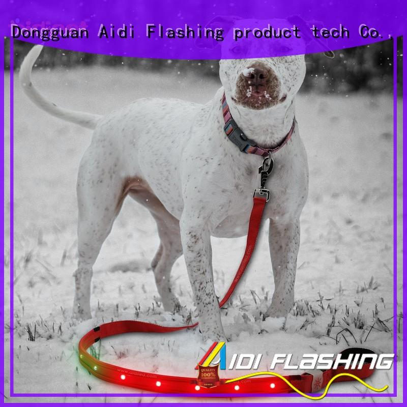 AIDI light pink dog leash design for pet