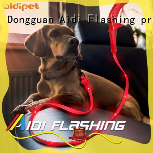 AIDI rainbow retractable dog leash with led light design for walking