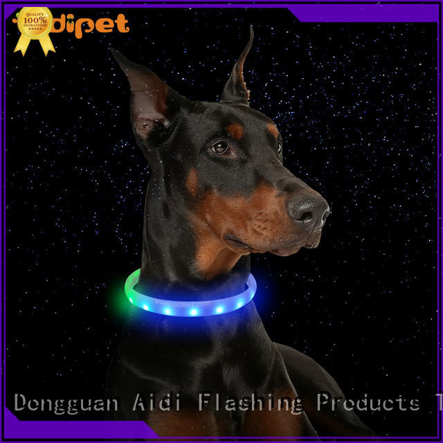 AIDI remote night time dog collars with good price for walking